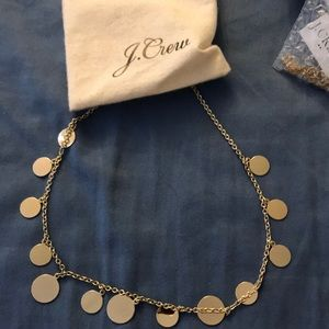 J.Crew gold circle necklace